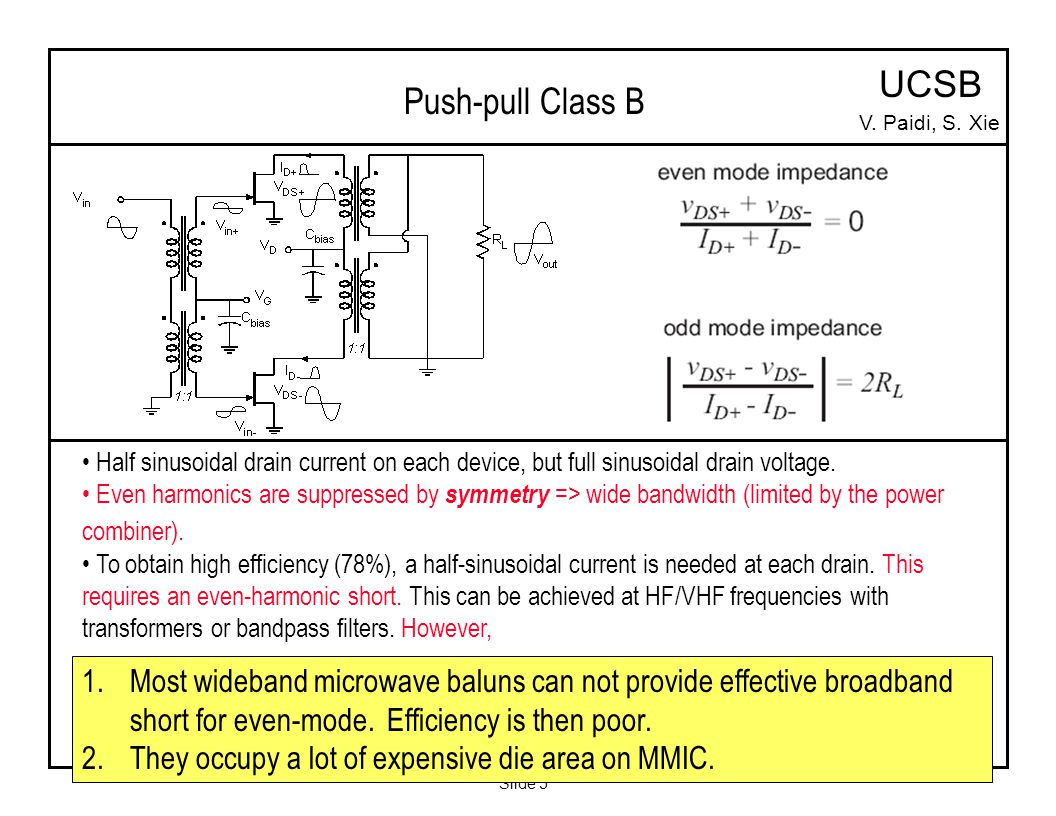Slide 1 V Paidi Department Of Electrical And Computer Engineering Radio Circuits Blog Hf Push Pull Broad Band Amplifier Circuit 5