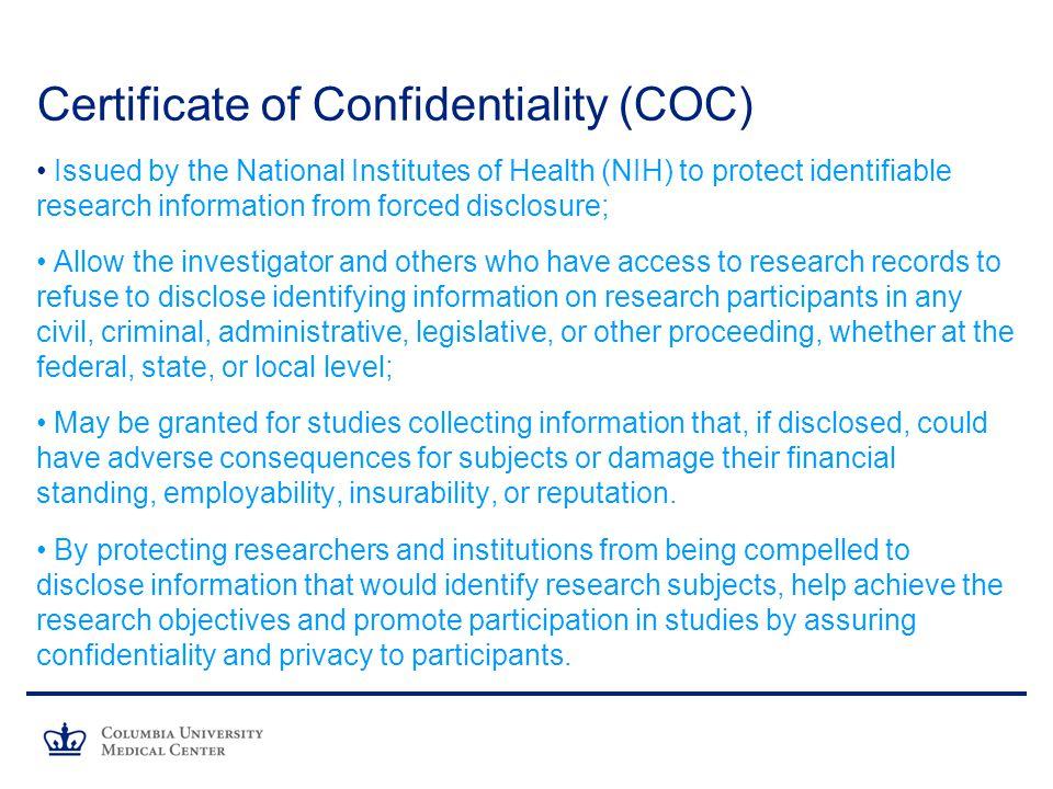 IRB Monthly Investigator Meeting Columbia University Medical Center ...