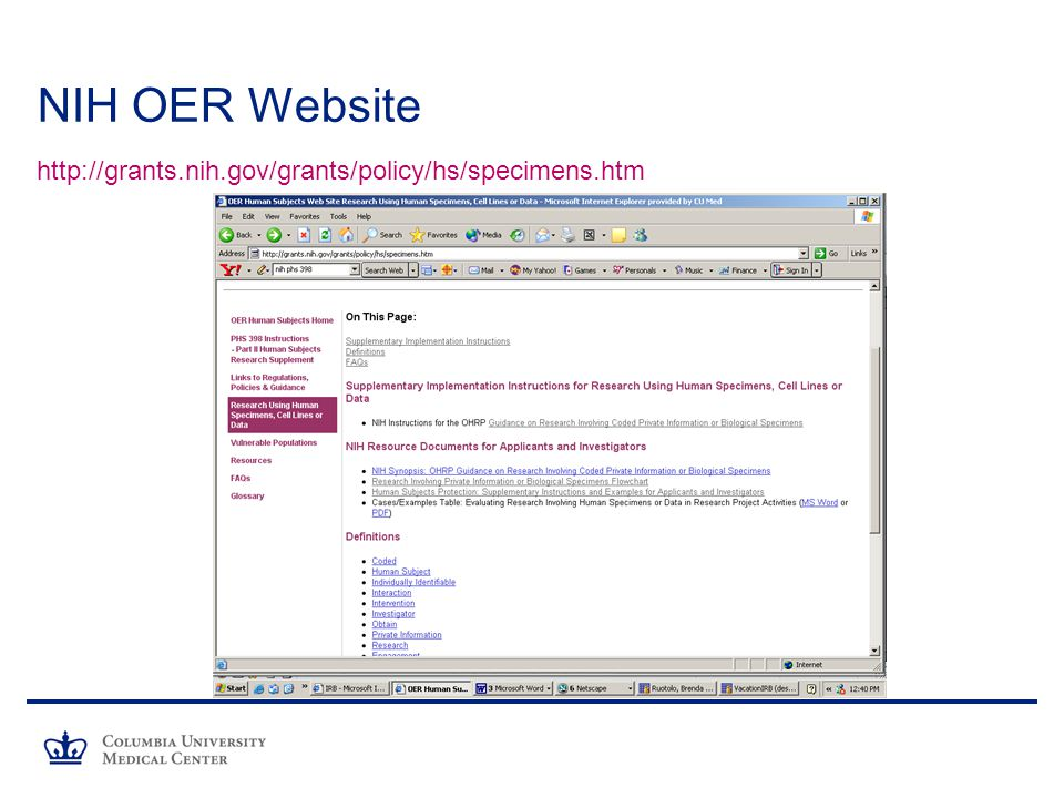 NIH OER Website