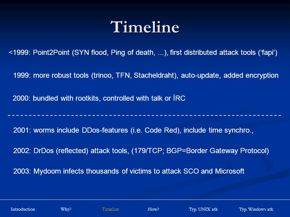 DDos Distributed Denial of Service Attacks by Mark Schuchter  - ppt