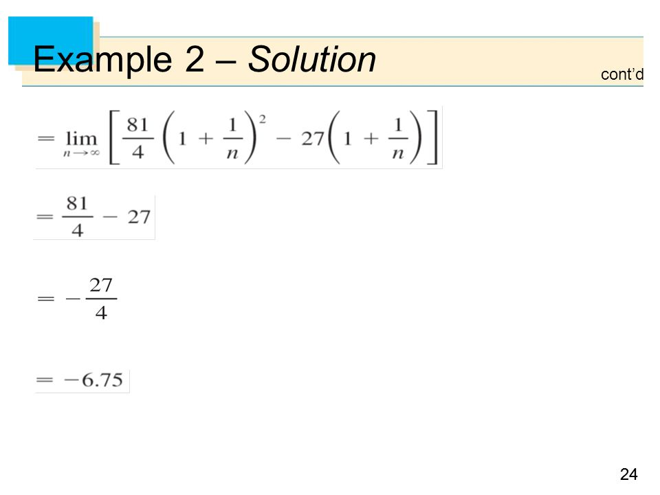 24 Example 2 – Solution cont'd