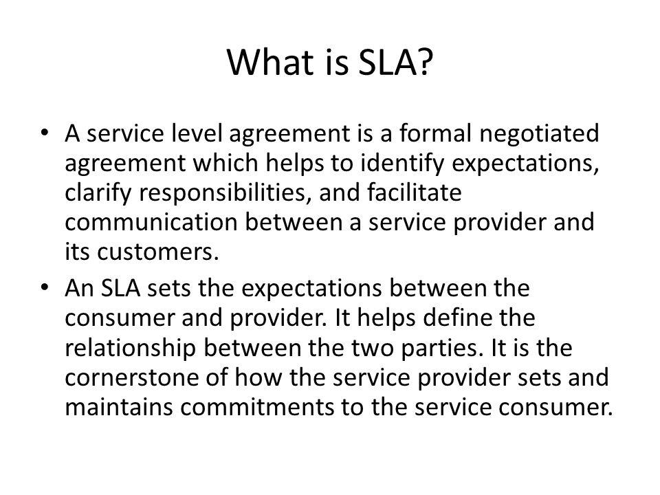 Service Level Agreements Introduction Pre It Economies Services