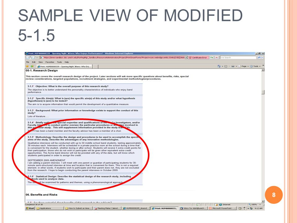 SAMPLE VIEW OF MODIFIED