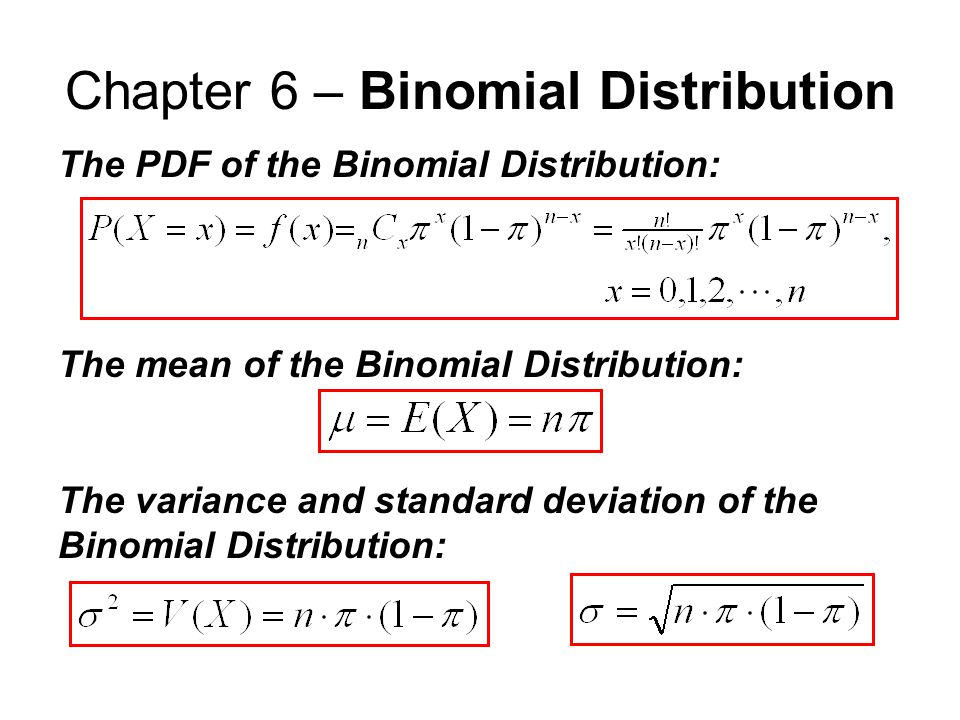 Distribution pdf binomial