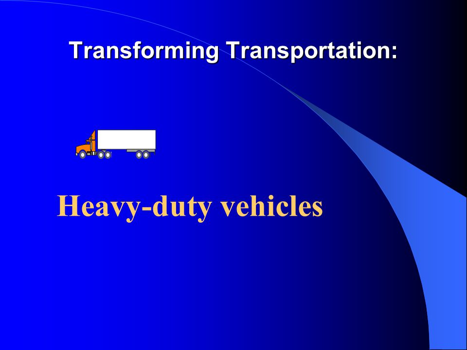 Transforming Transportation: Heavy-duty vehicles