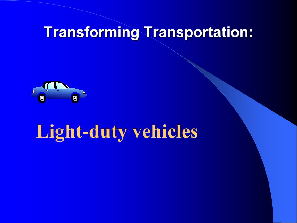 Transforming Transportation: Light-duty vehicles