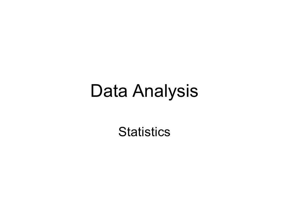 Data Analysis Statistics