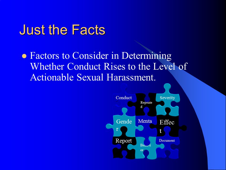 Define actionable sexual harassment