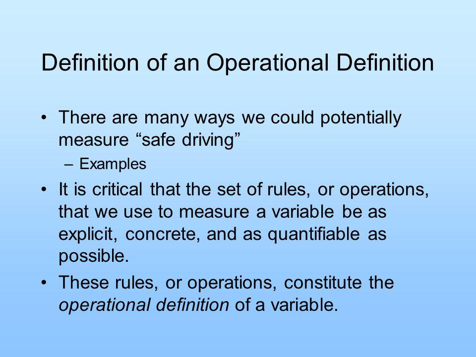 operational definition psychology