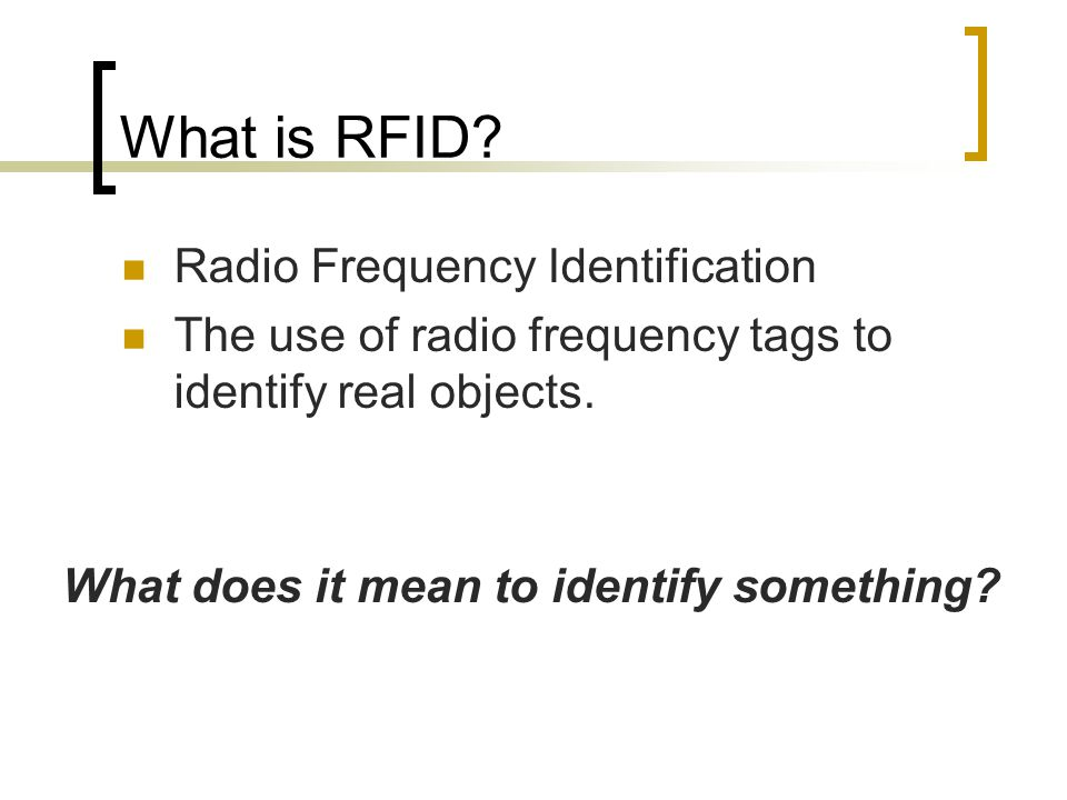 What is RFID.