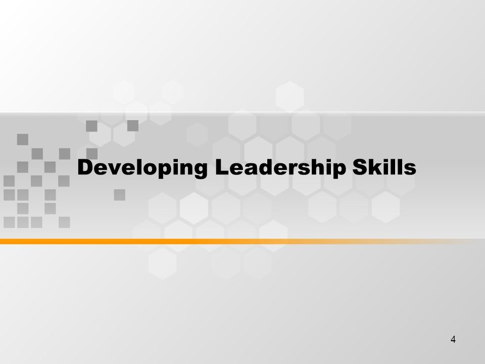 4 Developing Leadership Skills