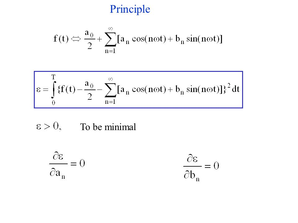 To be minimal Principle