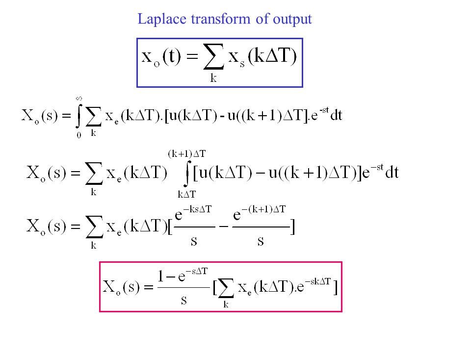 Laplace transform of output