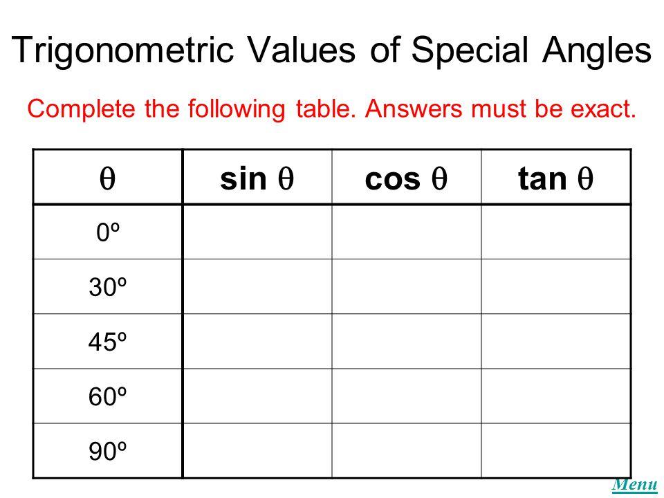 Menu Trigonometry Quizzes Quiz 1 Quiz 2 Quiz 3 Quiz 4 Quiz 5
