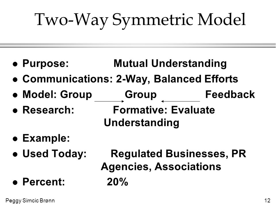 two way asymmetrical model example