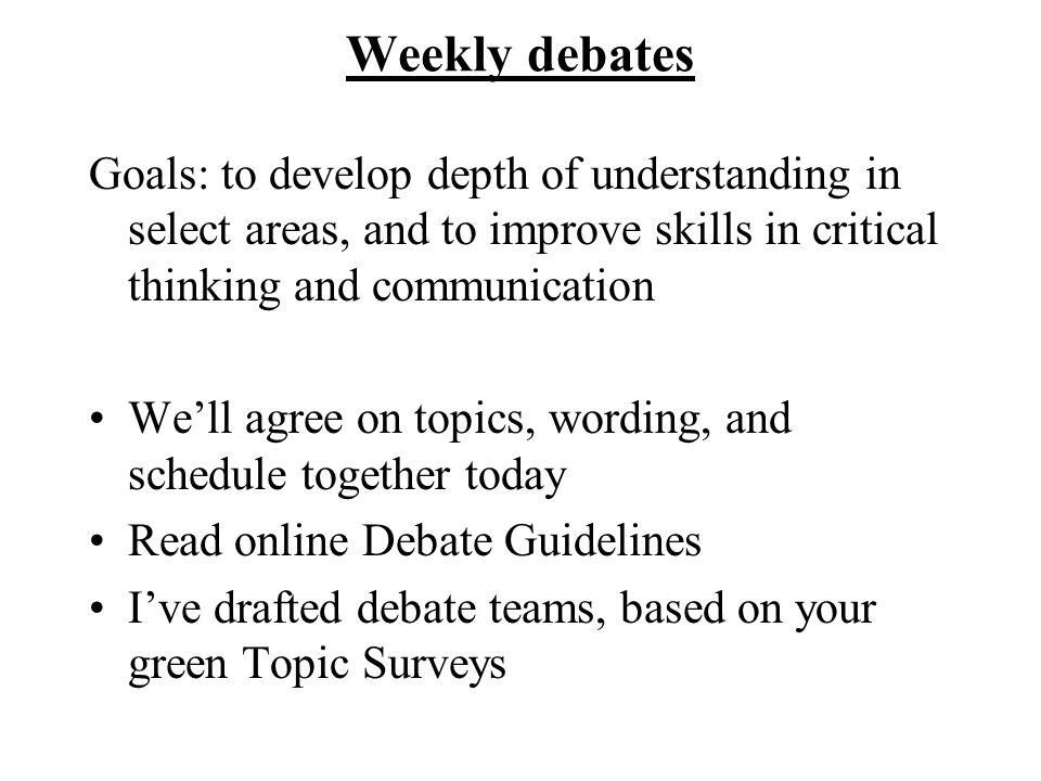 communication debate topics