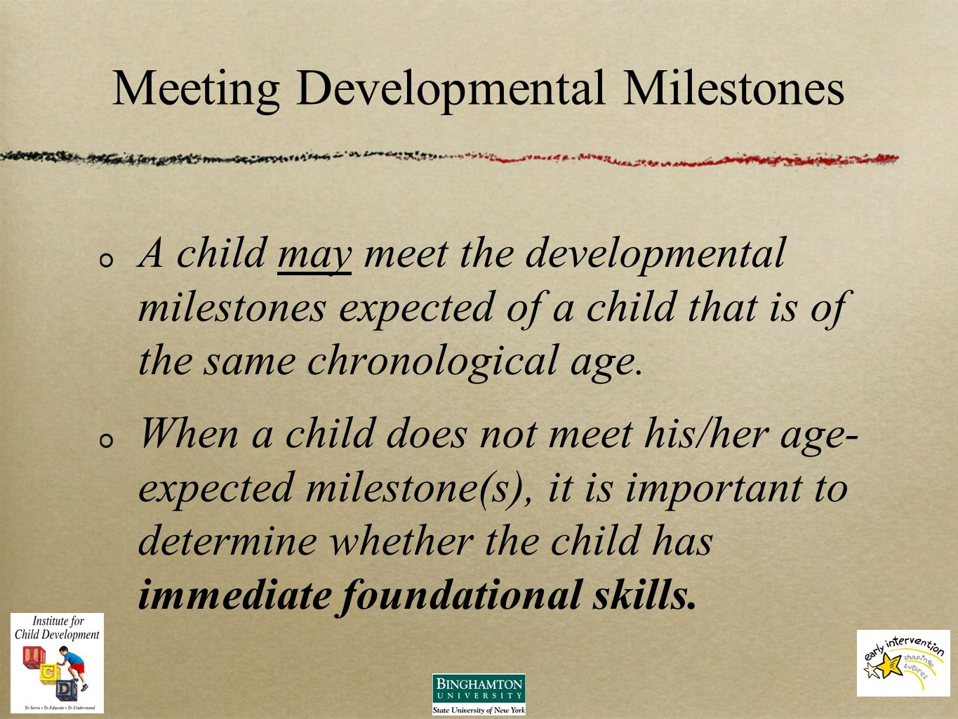 Child and family outcomes chapter 7 developmental milestones chart meeting developmental milestones a child may meet the developmental milestones expected of a child that is altavistaventures Gallery