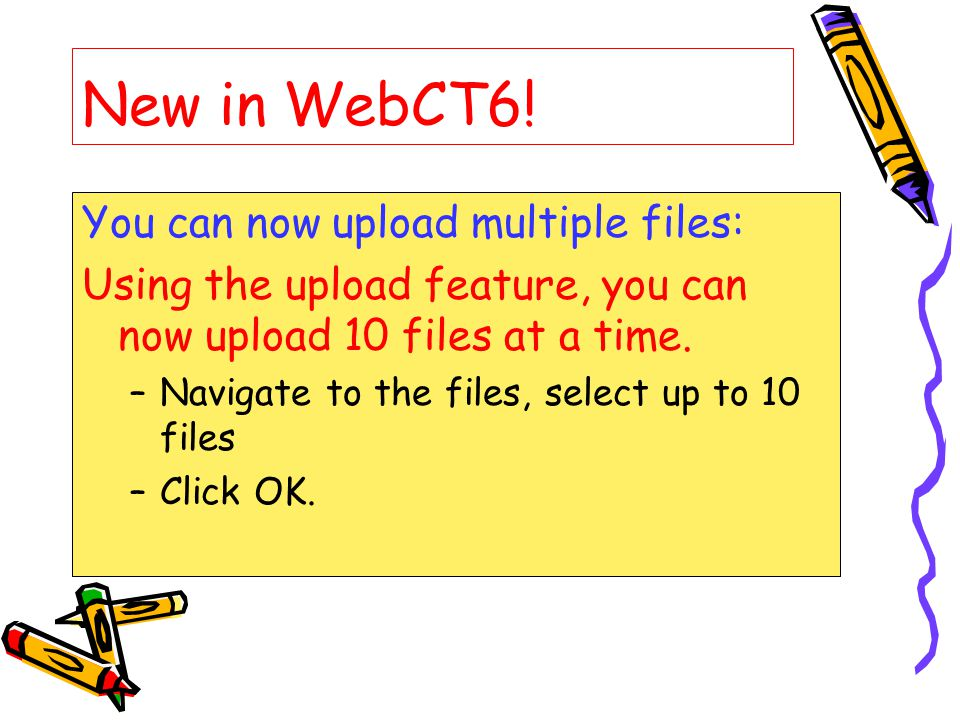 New in WebCT6.