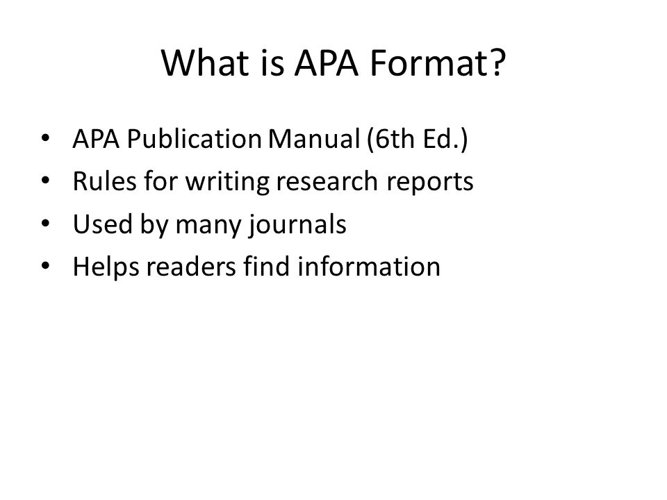 writing a paper in apa format