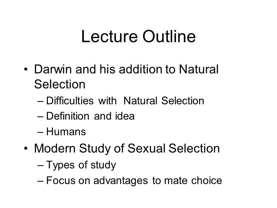 Darwin sexual selection humans