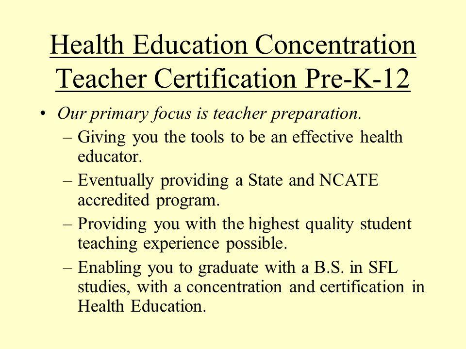 Choosing A Career In Health Health Education Teacher