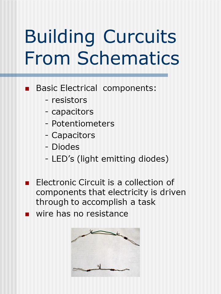 Electric Curcuits and Measurements Basic Electrical components and ...
