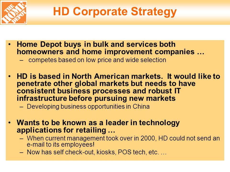 home depot strategic management