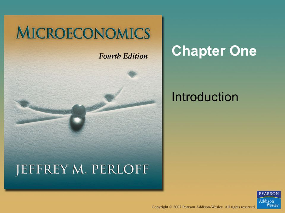 microeconomics the addisonwesley series in economics