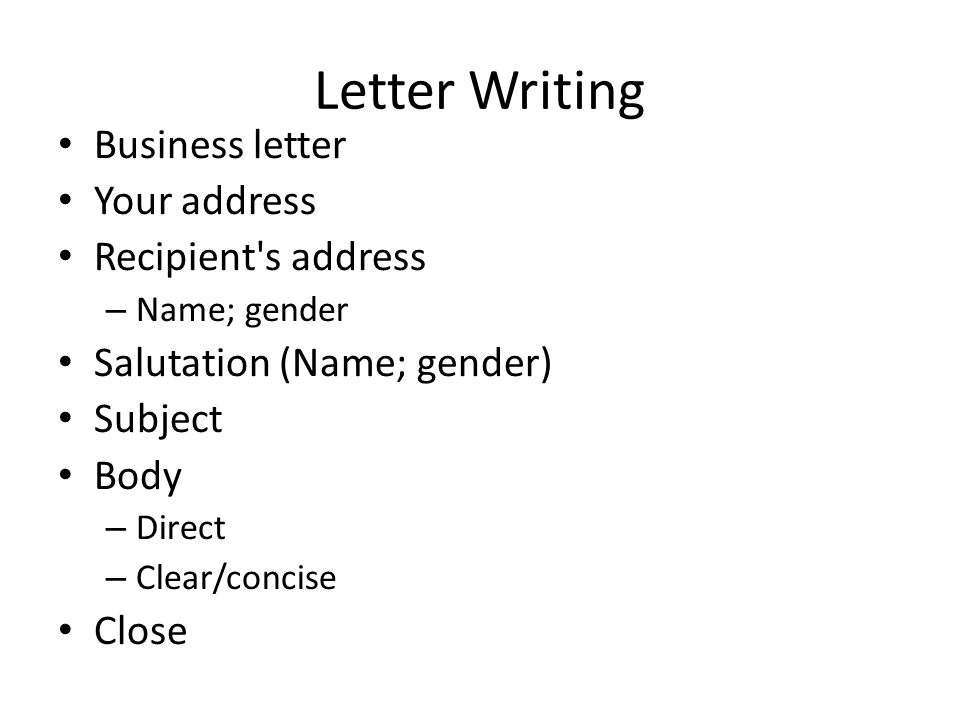 Business Correspondence Pt 1 Recognizing The Differences In The