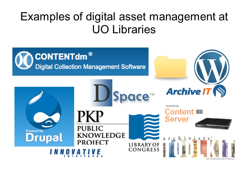 Examples of digital asset management at UO Libraries