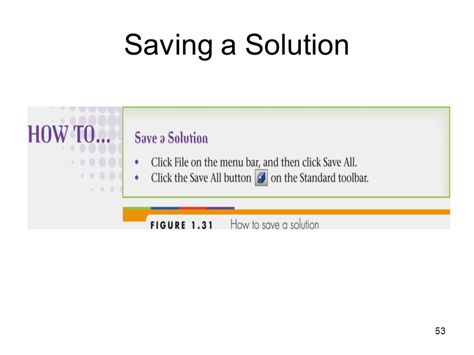 53 Saving a Solution