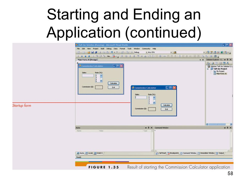 58 Starting and Ending an Application (continued)