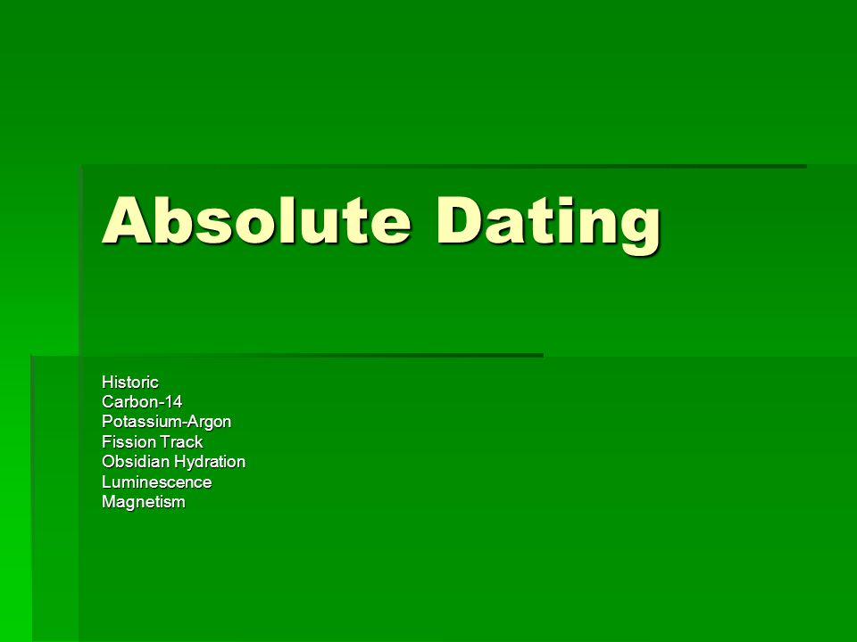 obsidian dating methods