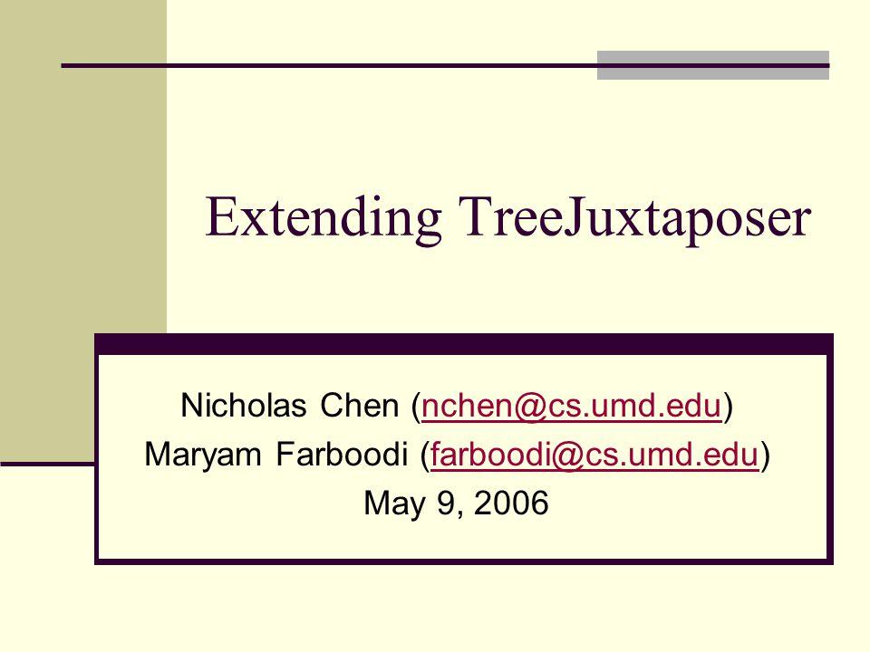 Extending TreeJuxtaposer Nicholas Chen Maryam Farboodi May 9