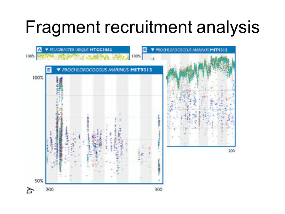 Fragment recruitment analysis