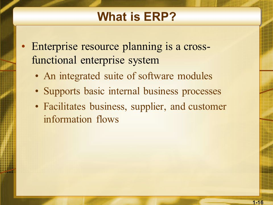 1-16 What is ERP.