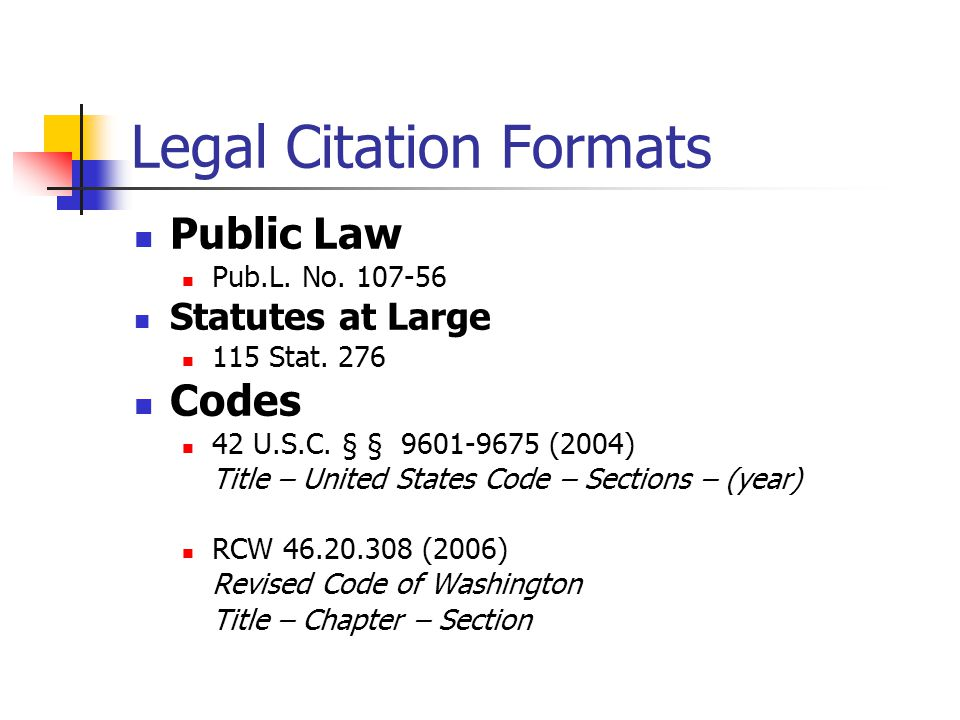 How to cite united states statutes at large
