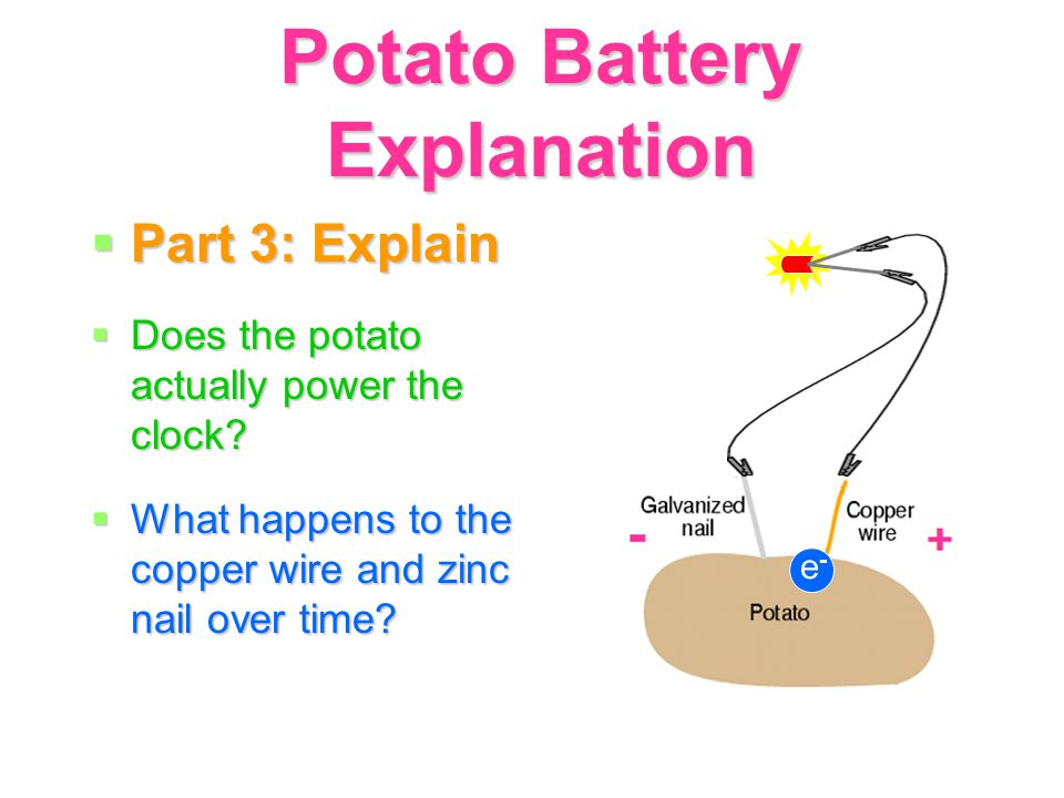 potato battery activity part 1 engage how does a battery rh slideplayer com  potato battery wiring diagram