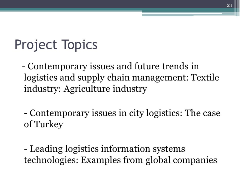 LOG 470 Contemporary Issues in Logistics Fall Week ppt download