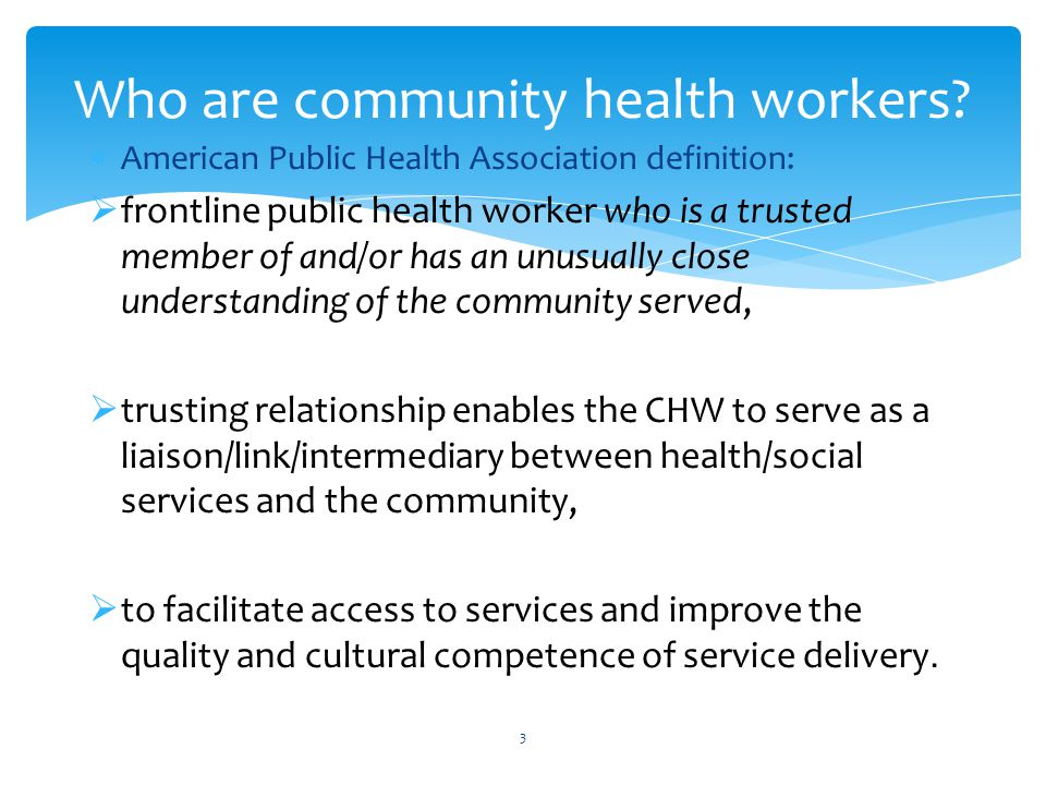 Promoting Community Health: Certification for Community Health ...