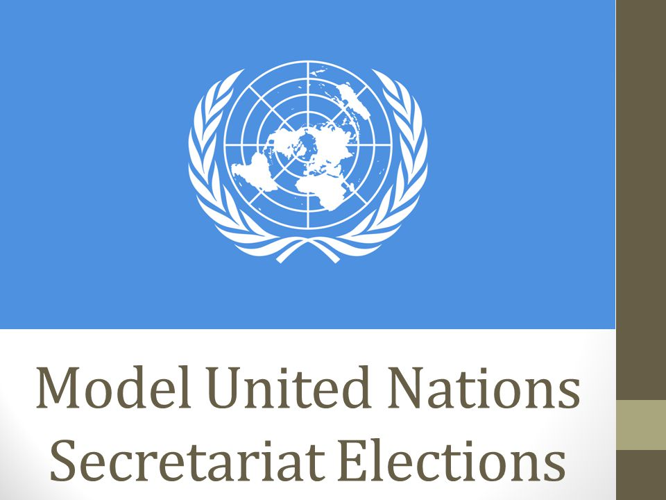 Model United Nations Secretariat Elections