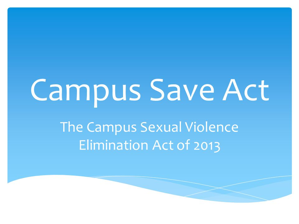 Campus sexual violence elimination act images 46
