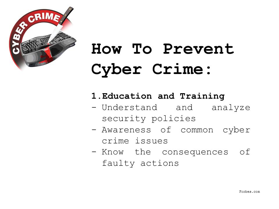 Cybercrime, aka computer crime, the use of a computer as an