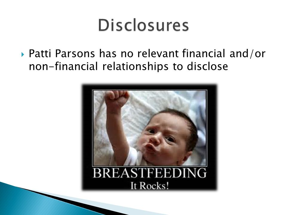  Patti Parsons has no relevant financial and/or non-financial relationships to disclose
