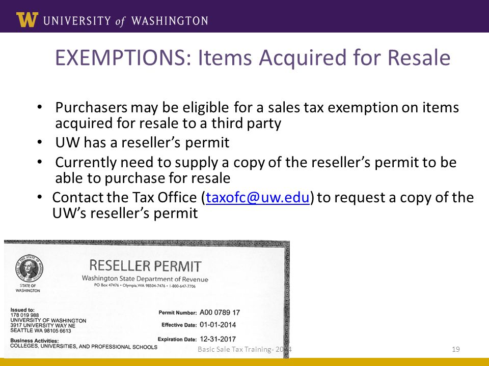 Introduction To Washington Sales And Use Tax Presented By