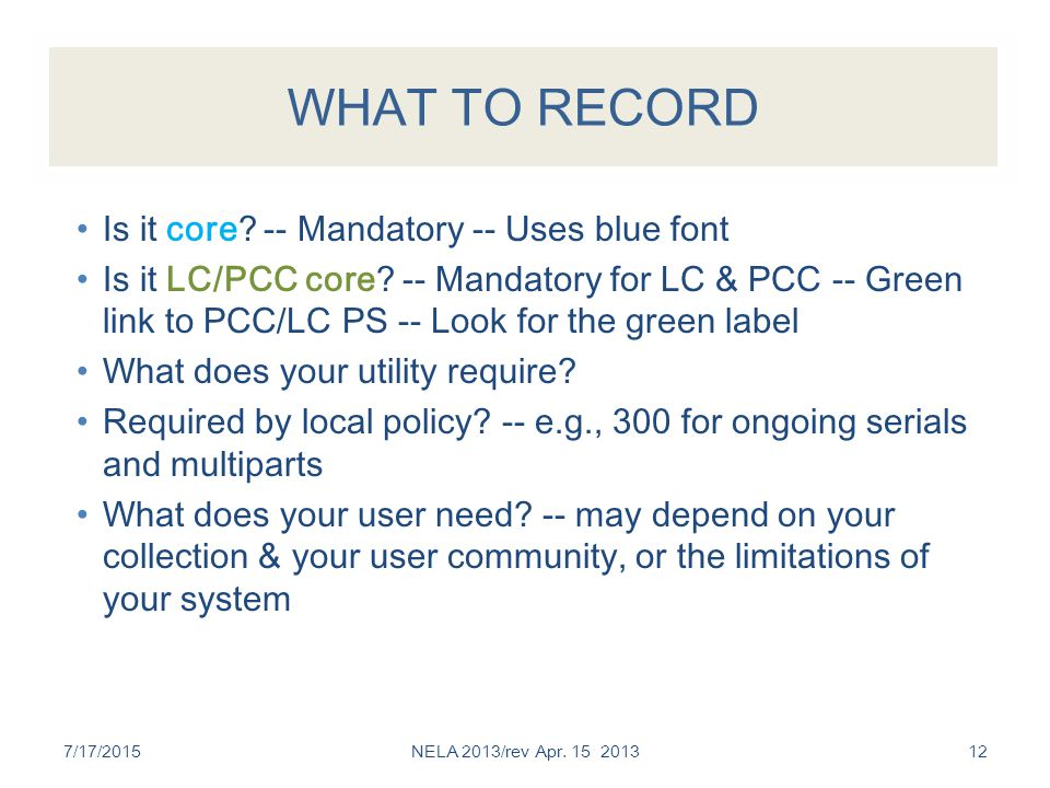 APPLYING RESOURCE DESCRIPTION AND ACCESS IN A MARC/ISBD