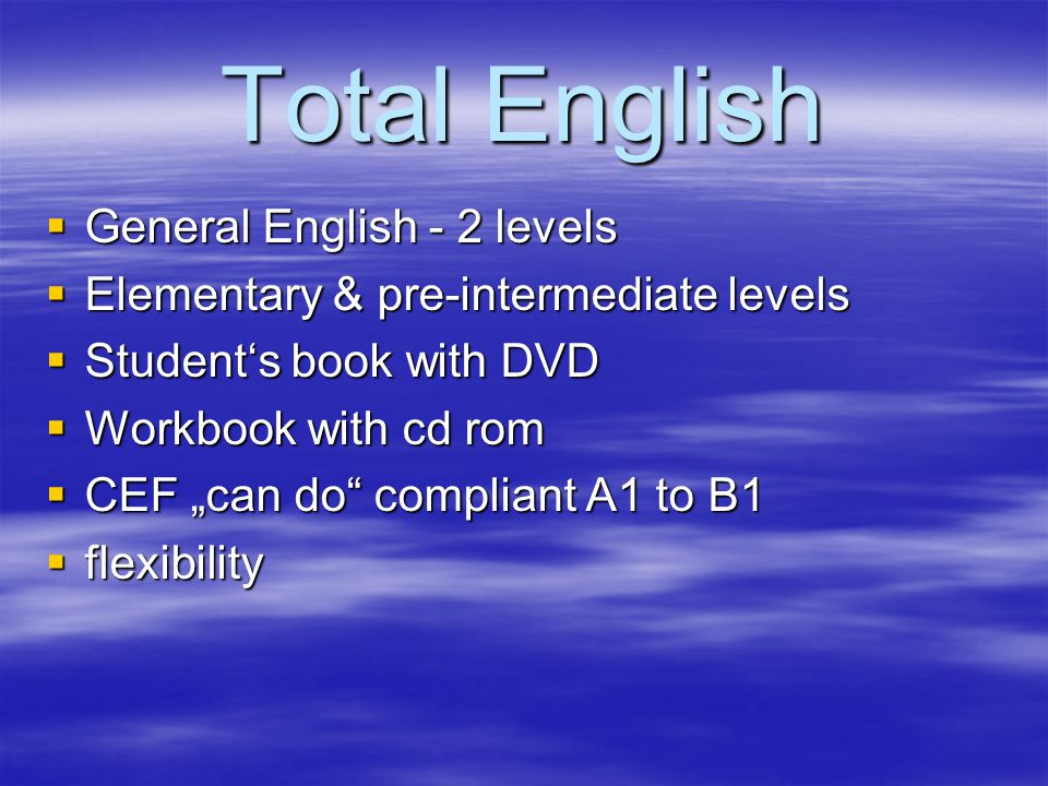 Students pre-intermediate book english total