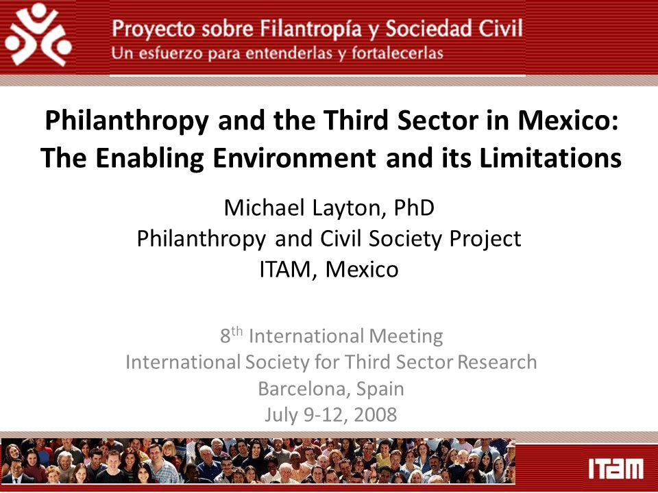 Michael Layton PhD Philanthropy And Civil Society Project ITAM