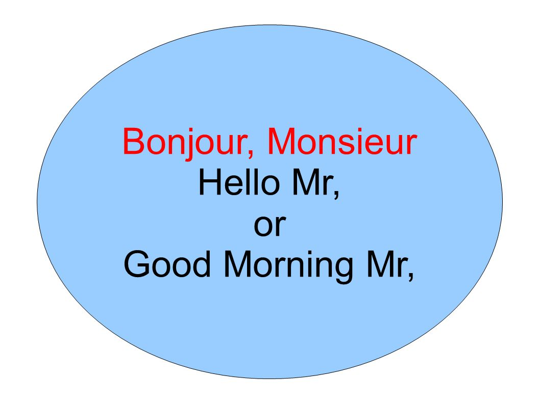 Greetings People In French French Greetings And Salutations