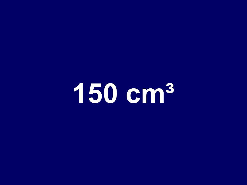 What is the volume of a rectangle with these measurements LENGTH: 10 cm WIDTH: 5 cm HEIGHT: 3 cm